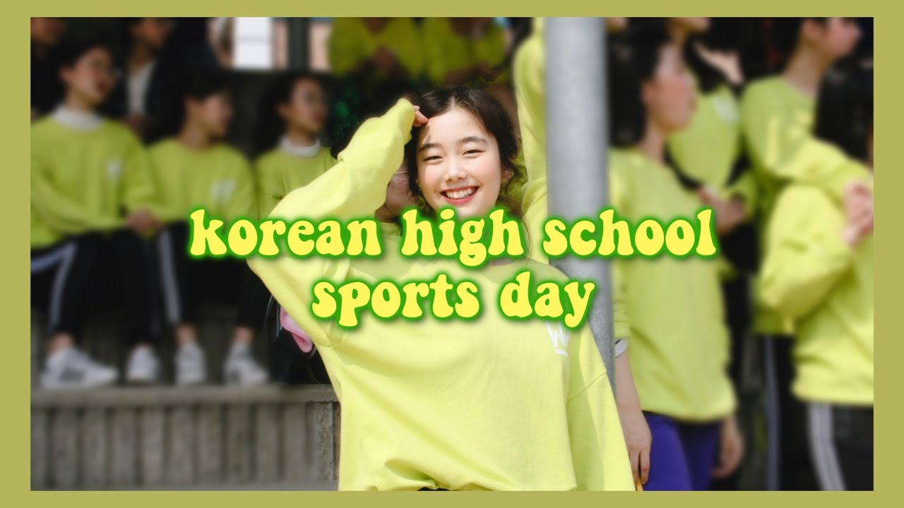 Sports Day of Korean High School VLOG : Dancing to BTS?
