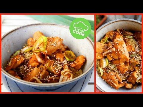 Asiatisches Sesam-Honig Hähnchen 😍   schnelles Rezept