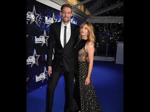Abbey Clancy flaunts sideboob at Global Aw ards with Peter Crouch