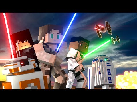 Minecraft Animation - STAR WARS MOVIE: The Last Jedi! (Star Wars Animation)