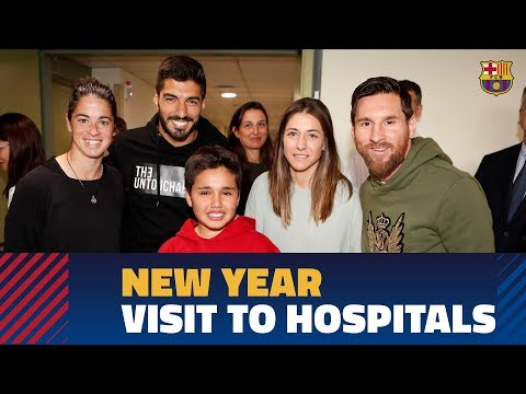 Barça bringing happiness to local hospitals