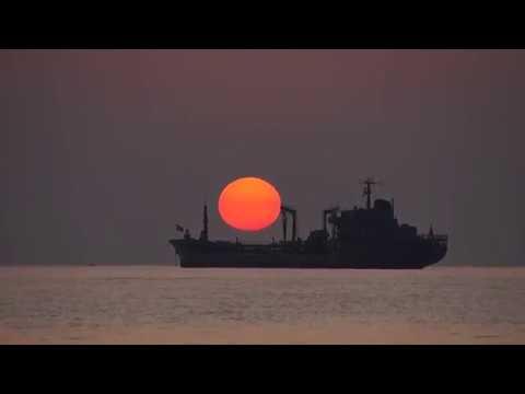 Alanya'da Gemi üzerinden Güneşin Batışı.