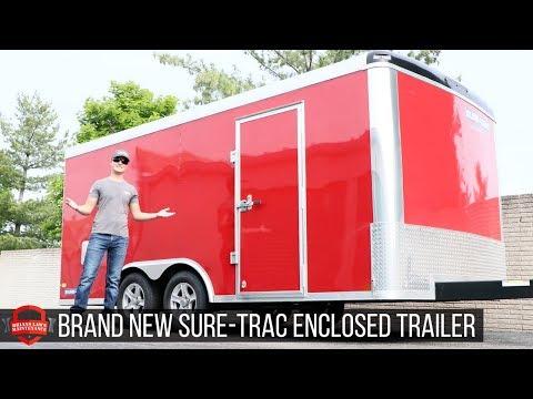Brand New! Sure Trac 8.5x16 Enclosed Trailer - Landscape Pro Series
