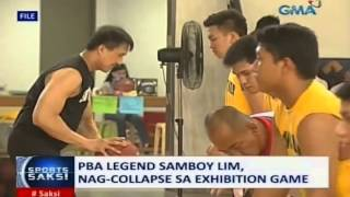 Saksi: PBA legend Samboy Lim, nag-collapse sa exhibition game