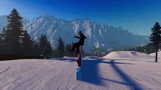 The Snowboard Game- jibbin around