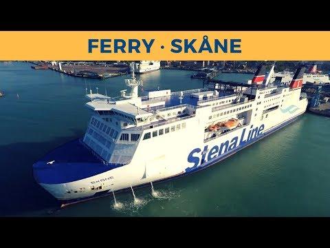 Departure of ferry SKÅNE in Trelleborg (Stena Line)