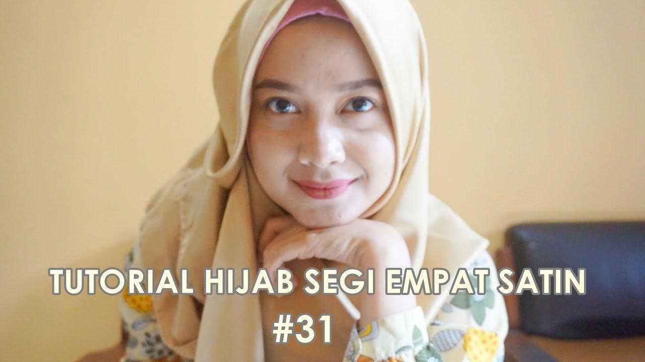 Tutorial Hijab Segi Empat Satin 31 Indahalzami Youtube