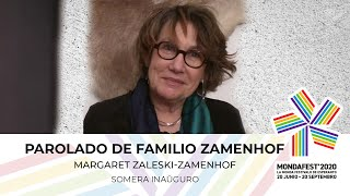 #mondafest2020 Parolado de Margaret Zaleski-Zamenhof