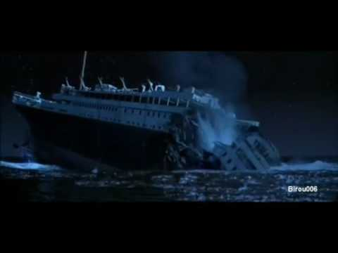Music tracks of titanic sinking in reverse