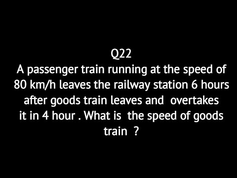 A Passenger Train Running At The Speed Of 80 Km/h Leaves The Railway Station 6 Hours After