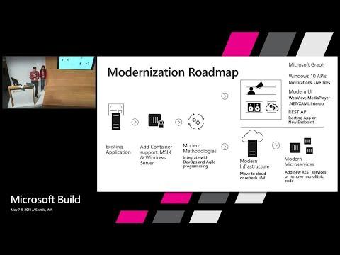 Tying it all together – Modernizing Enterprise Applications : Build 2018