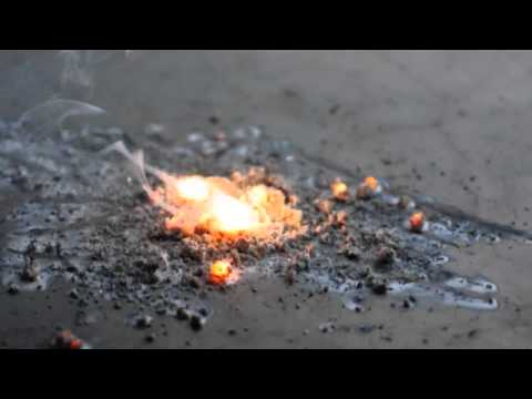 Magnesium Shavings On Fire