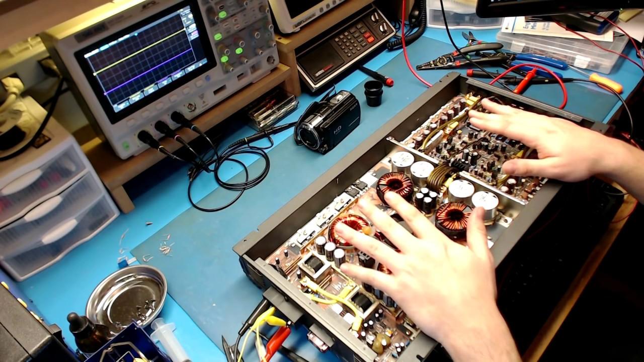 ALPINE MRV-1507 AMPLIFIER REPAIR. - YouTube