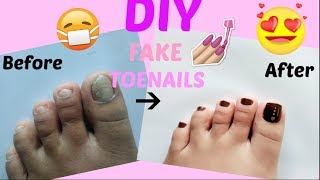 DIY: Fake Toenails/Pedicure At Home-Quick, Cheap & EASY-No Acrylic [[ My First Youtube Video]]