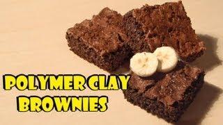 Polymer Clay; 'realistic' Brownies (+banana Cane) Tutorial