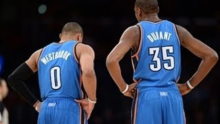 kevin durant and russell westbrook stop the spurs win streak at 19