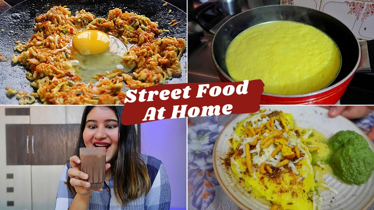 SURAT STREET FOOD at HOME | Locho, Cold Coco & Anda Ghotala | #CookWithGG