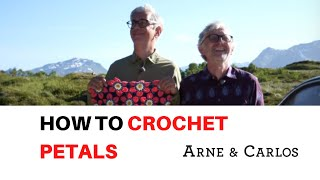 How to Crochet the Petals from our Hedvig Blanket by ARNE & CARLOS