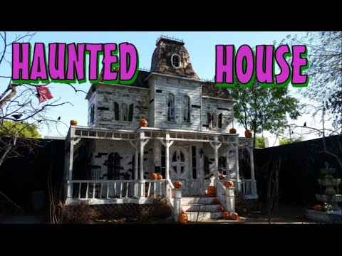 Haunted House Walkthrough   Around The Halloween Facade   YouTube