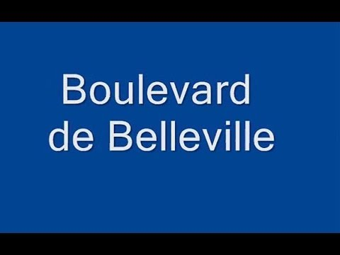 Boulevard de Belleville Paris Arrondissement 11e, 20e