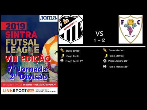 VIII Edição Sintra Futsal League 2ªDiv 7ªJorn Abrunheira FC vs FC Alvarinhos 1 - 2