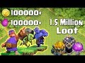 Biggest Loot Attack in Clash of Clans HISTORY - 1.5 MILLION Resources!