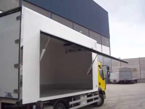 Isotermo frigorifico con puerta lateral hidraulica alite para venta ambulante youtube - Puerta empotrada corredera ...