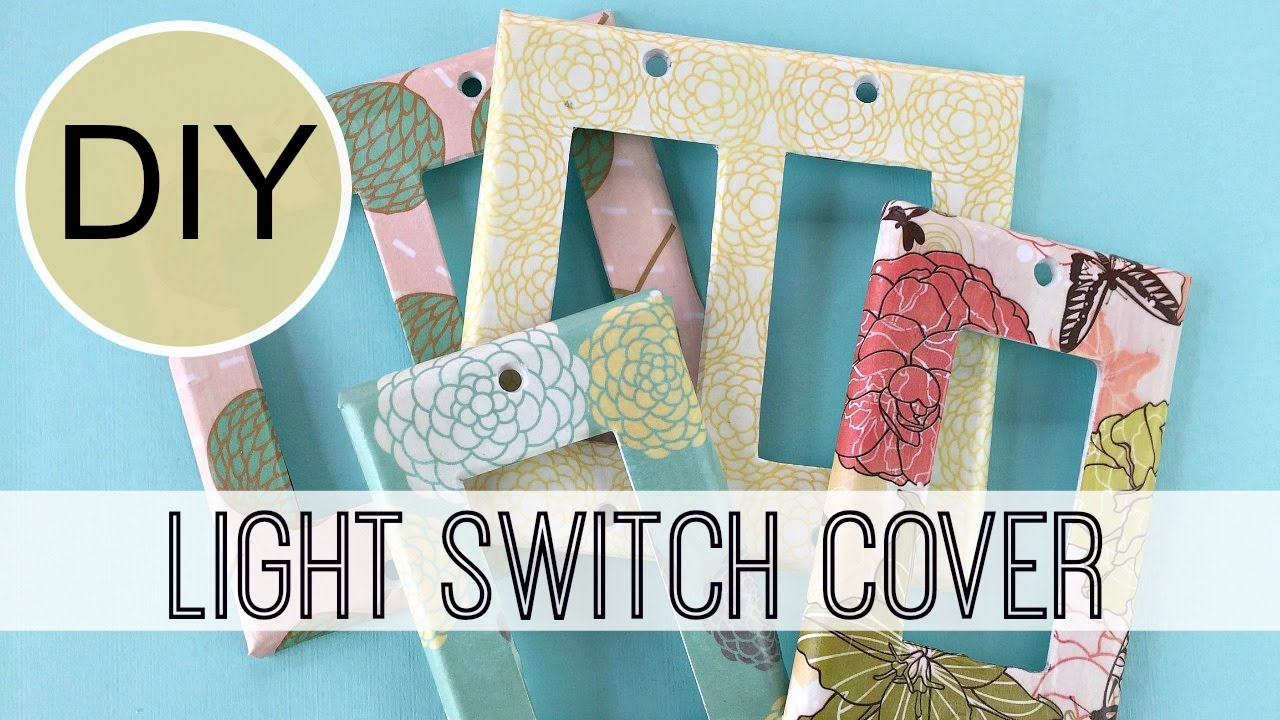Diy Light Switch Covers By Michele Baratta Youtube