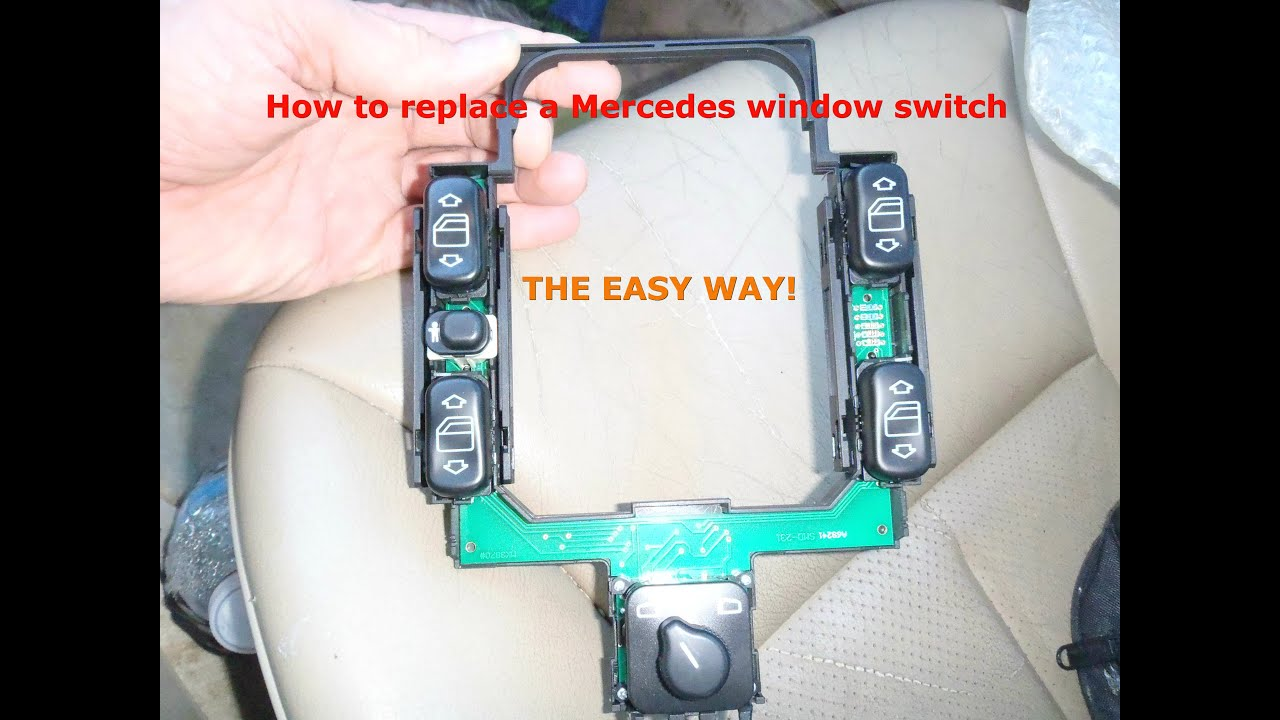 how to replace a mercedes window switch assembly  [ 1280 x 720 Pixel ]