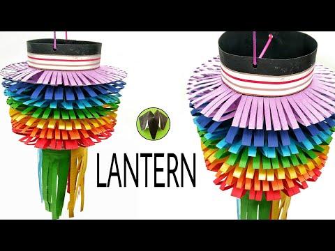 Rainbow Lantern 🏮 for Diwali | Christmas | Eid -DIY Tutorial by Paper Folds - 935