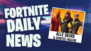 Fortnite Daily News *LEAKED* SKINS & EMOTES INGAME (27 März 2019)