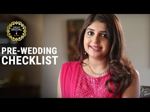 Bridal Fashionable Guide | Pre-Wedding Checklist | How To and Style