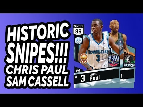 NBA 2K17 - MyTeam - Historic Snipes - CP3 and Sam Cassell