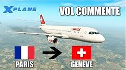 X-plane 11 - Paris - Genève A320 Swiss