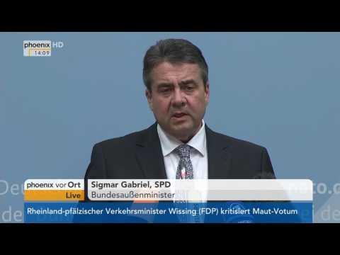 Treffen der NATO-Außenminister: Rede von Sigmar Gabriel am 31.03.17
