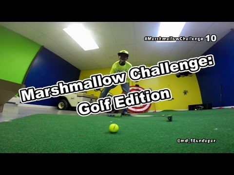 Marshmallow Challenge: Golf Edition || #ActivateGreatness / Chubby Bunny