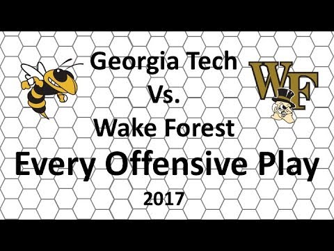 Georgia Tech vs Wake Forest 2017: Every Offensive Play