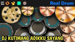 DJ KUTIMANG ADIKKU SAYANG - IPANK || REAL DRUM COVER ( DJ KAU TELAH DEWASA )