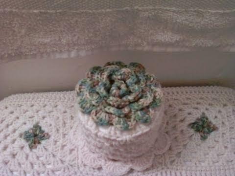 Gorro de papel higienico tutorial de tejido crochet - Papel para banos ...