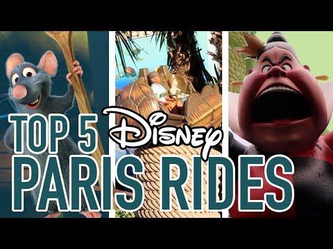Top 5 Rides ONLY At Disneyland Paris