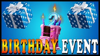 FORTNITE 2nd BIRTHDAY BASH EVENT! BIRTHDAY CHALLENGES with FREE REWARDS! // Playing With SUBSCRIBERS