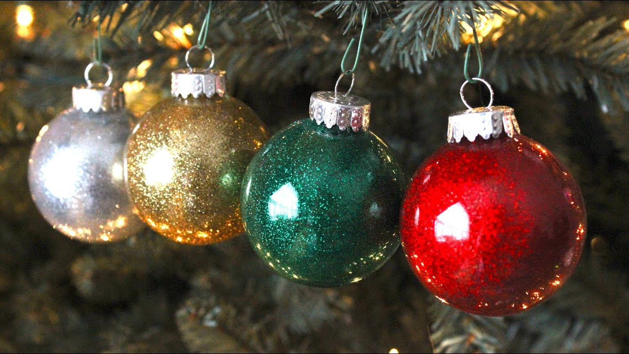 diy best glitter ornaments youtube - Glass Christmas Bulbs For Decorating