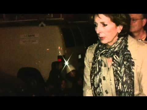 UC Davis Chancellor Katehi walks to car amidst protesters (HD, best quality)