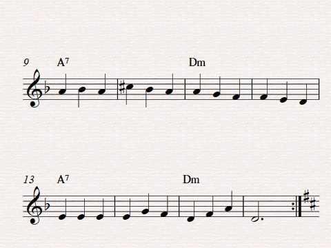 Free easy violin sheet music, Spanish Romance