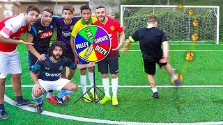 ⚽ La RUOTA delle FOOTBALL CHALLENGES! w/Fius Gamer, Ohm e Tatino
