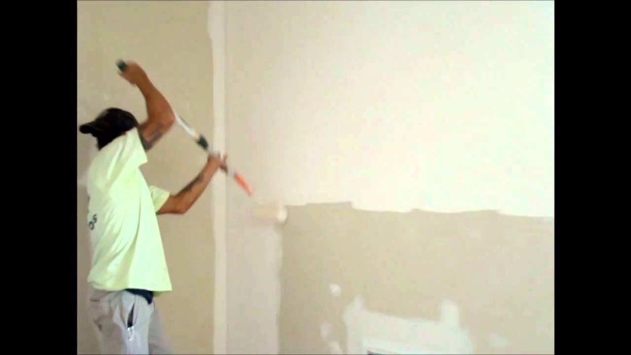 How to Paint a White Wall in Room,Painting By Epps Home Restorations -  YouTube