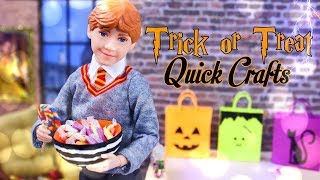 DIY - How to Make: Trick or Treat Post - It Note Quick Crafts | Candy Bowl | Candy & more