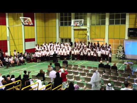 "Qatar Academy Grade 5 Graduation Ceremony / Grade 5 Choir performing ""Sing"""