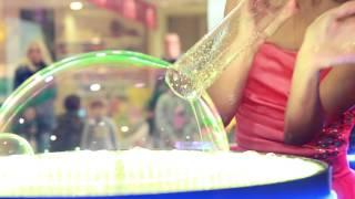 Видео шоу мыльных пузырей от