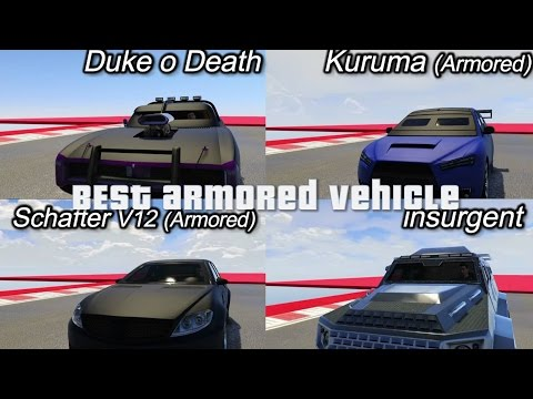 Get FASTEST ARMORED VEHICLE IN GTA online - duke o death vs kuruma vs insurgent vs shafter v12 armored Snapshots